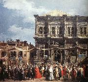 Canaletto The Feast Day of St Roch (detail) f oil painting picture wholesale