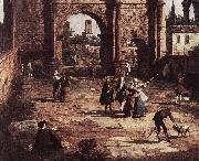 Canaletto Rome: The Arch of Constantine (detail) fd oil painting picture wholesale