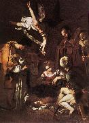 Caravaggio Nativity with St Francis and St Lawrence fdg oil painting picture wholesale