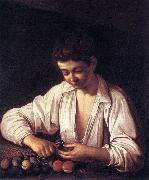 Caravaggio Boy Peeling a Fruit df Germany oil painting reproduction