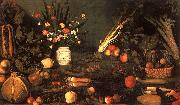 Caravaggio Still Life with Flowers Fruit oil