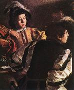 Caravaggio The Calling of Saint Matthew (detail) urt oil painting picture wholesale