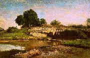 Charles Francois Daubigny The Flood Gate at Optevoz oil