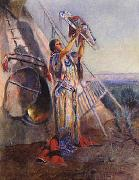 Charles M Russell Sun Worship in Montana oil painting picture wholesale