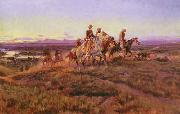 Charles M Russell Men of the Open Range oil painting picture wholesale