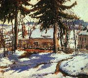 Charles Reiffel February Thaw, Silvermine Connecticut oil painting artist