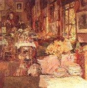 Childe Hassam The Room of Flowers oil