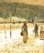 Childe Hassam New York Street oil painting picture wholesale