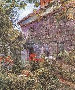 Childe Hassam Old House and Garden at East Hampton, Long Island oil painting picture wholesale
