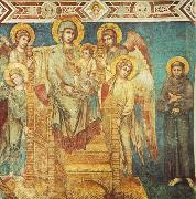 Cimabue Madonna Enthroned with the Child, St Francis and four Angels dfg oil painting picture wholesale