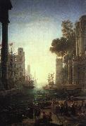 Claude Lorrain Landscape with the Embarkation of Saint Paula Romana at Ostia oil painting picture wholesale