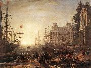 Claude Lorrain Port Scene with the Villa Medici dfg oil painting picture wholesale