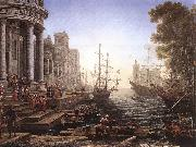 Claude Lorrain Port Scene with the Embarkation of St Ursula fgh oil painting picture wholesale