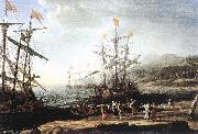 Claude Lorrain Marine with the Trojans Burning their Boats dfg oil painting picture wholesale