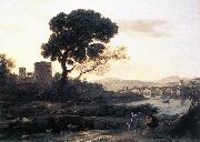 Claude Lorrain Landscape with Shepherds   The Pont Molle fgh oil painting picture wholesale