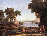Claude Lorrain Landscape with Dancing Figures dfgdf oil painting picture wholesale