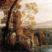 Claude Lorrain Landscape with Dancing Figures (detail) dfg oil painting picture wholesale
