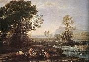 Claude Lorrain Landscape with Rest in Flight to Egypt fg oil