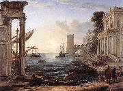 Claude Lorrain Seaport with the Embarkation of the Queen of Sheba df oil