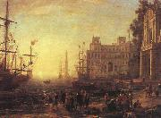 Claude Lorrain Port with Villa Medici oil painting picture wholesale
