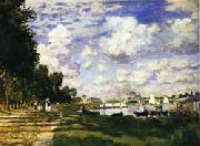 Claude Monet The dock at Argenteuil oil painting picture wholesale
