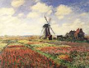 Claude Monet Tulip Fields in Holland oil painting picture wholesale