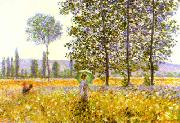 Claude Monet Fields in Spring oil painting picture wholesale