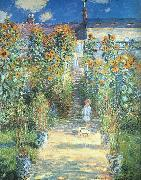 Claude Monet Artist s Garden at Vetheuil oil painting picture wholesale