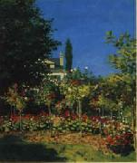 Claude Monet Flowering Garden oil painting picture wholesale