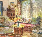 Colin Campbell Cooper Cottage Interior oil