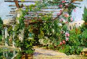 Colin Campbell Cooper Summer Verandah oil