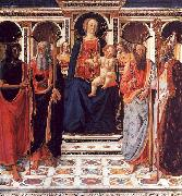 Cosimo Rosselli The Virgin and Child Enthroned with Saints oil painting picture wholesale