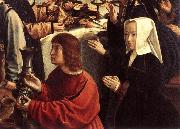 DAVID, Gerard The Marriage at Cana (detail) dfgw oil painting artist