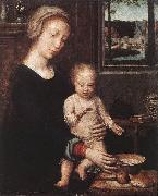 DAVID, Gerard Madonna and Child with the Milk Soup dgw Germany oil painting reproduction