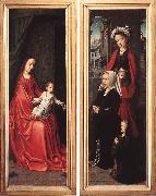 DAVID, Gerard Triptych of Jan Des Trompes (rear of the wings) tye oil painting picture wholesale