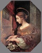 DOLCI, Carlo St Cecilia at the Organ dfg oil painting artist