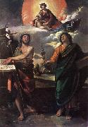 DOSSI, Dosso The Virgin Appearing to Sts John the Baptist and John the Evangelist dfg oil