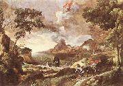 DUGHET, Gaspard Landscape with St Augustine and the Mystery dfg oil painting artist