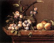 DUPUYS, Pierre Plums and Peaches on a Table dfg oil painting picture wholesale