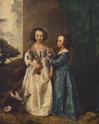 DYCK, Sir Anthony Van Portrait of Philadelphia and Elisabeth Cary fg oil painting picture wholesale