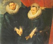 DYCK, Sir Anthony Van Portrait of a Married Couple dfh oil painting picture wholesale