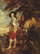 DYCK, Sir Anthony Van Charles I: King of England at the Hunt drh oil painting artist