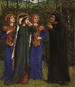 Dante Gabriel Rossetti The Meeting of Dante and Beatrice in Paradise oil painting picture wholesale
