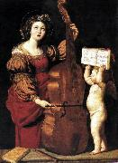 Domenichino St Cecilia dsw oil
