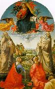 Domenico Ghirlandaio Christ in Heaven with Four Saints and a Donor oil painting artist
