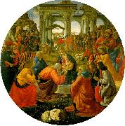 Domenico Ghirlandaio The Adoration of the Magi  aa oil painting artist