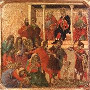 Duccio di Buoninsegna Slaughter of the Innocents oil