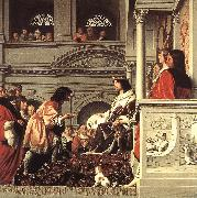 EVERDINGEN, Caesar van Count Willem II of Holland Granting Privileges fg oil painting artist