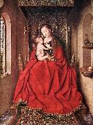 EYCK, Jan van Suckling Madonna Enthroned ss Germany oil painting reproduction