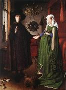 EYCK, Jan van Portrait of Giovanni Arnolfini and his Wife df oil painting picture wholesale
